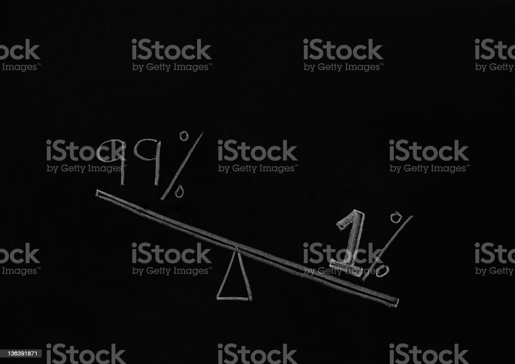 wealth discrepancy in USA stock photo
