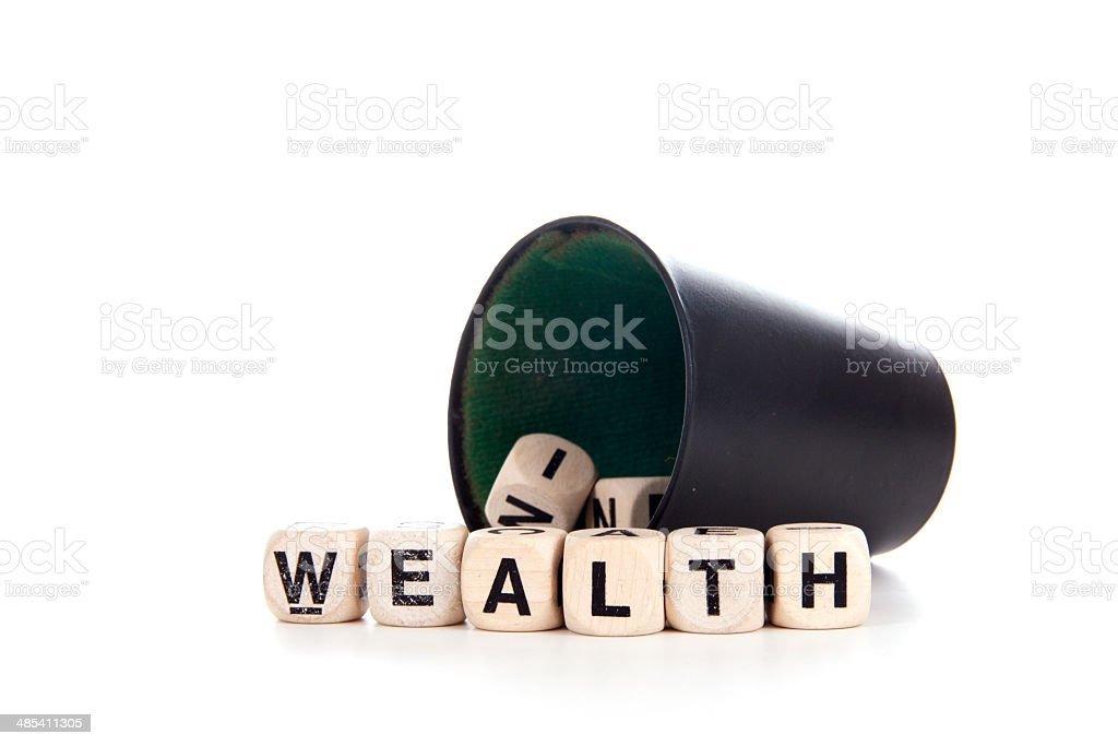 wealth in dices royalty-free stock photo