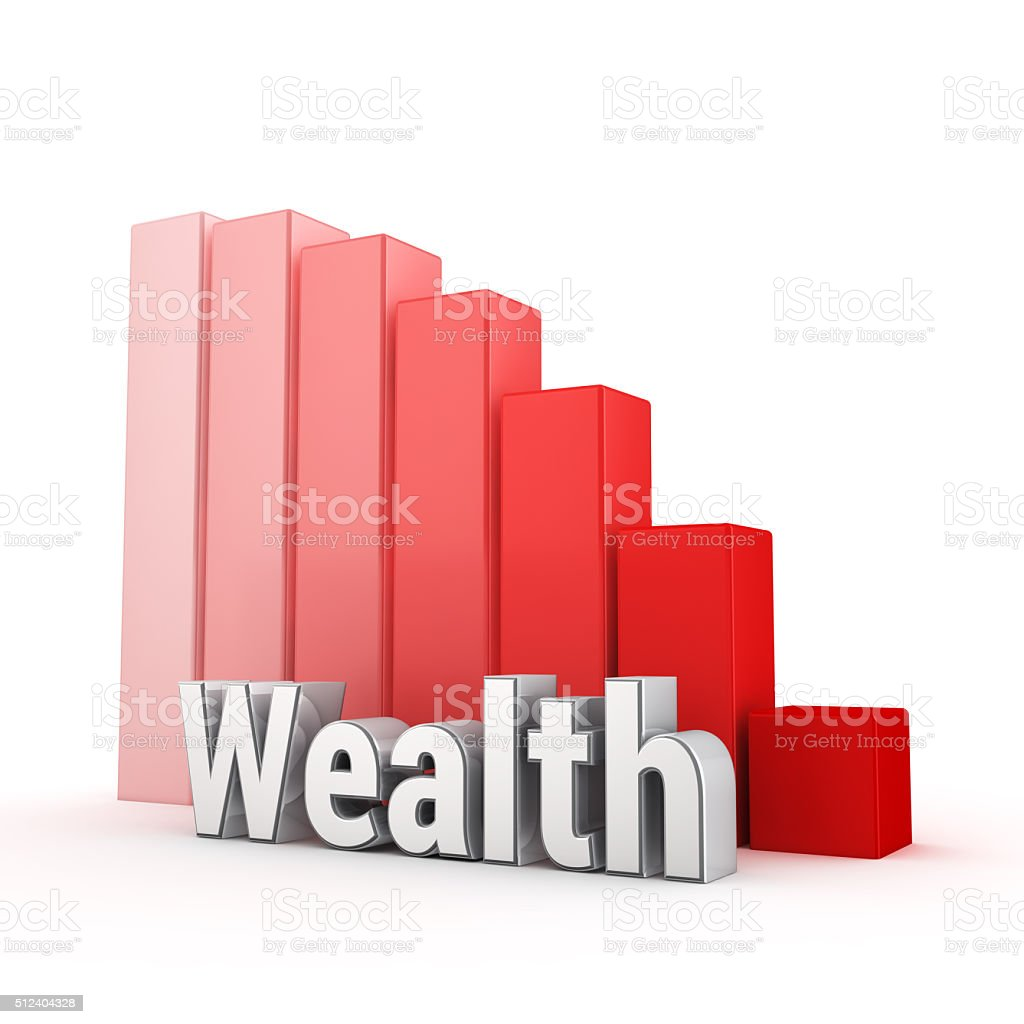 Wealth is falling down stock photo