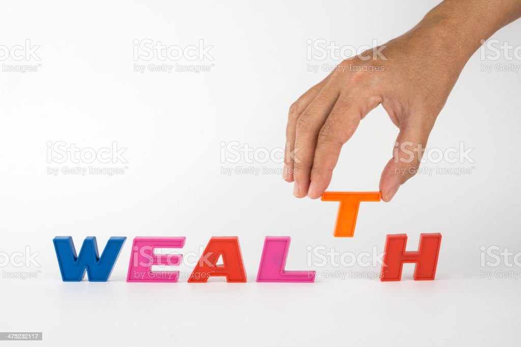 Wealth,word royalty-free stock photo