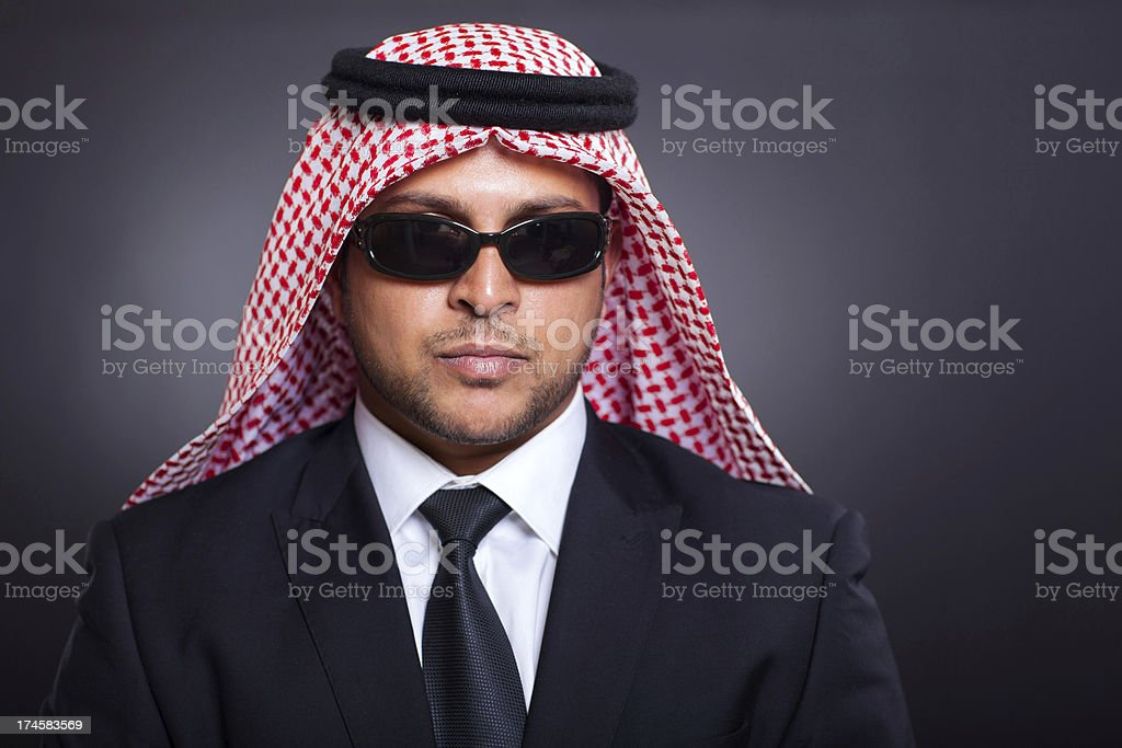 wealthy arabian businessman stock photo