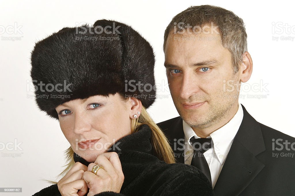 Wealthy Couple royalty-free stock photo