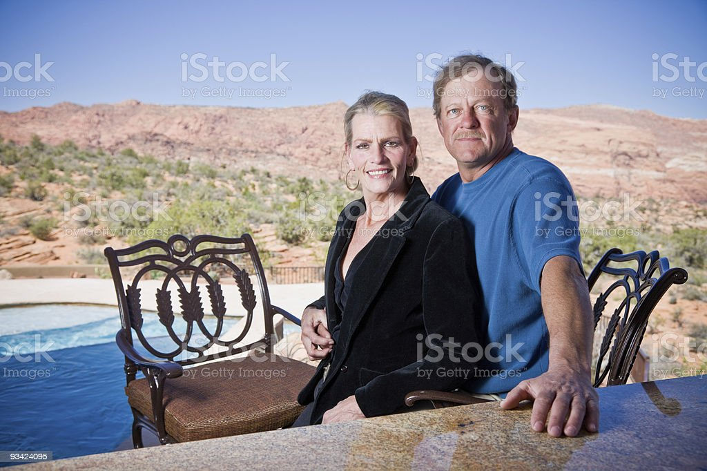 Wealthy Mature Couple royalty-free stock photo