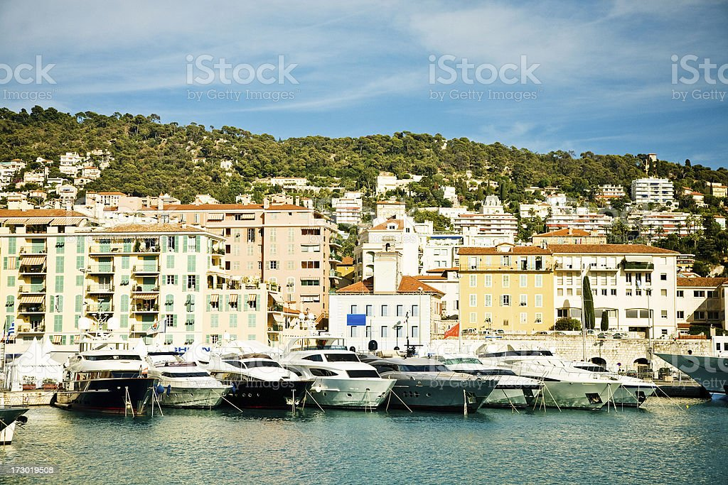 wealthy port with yachts royalty-free stock photo