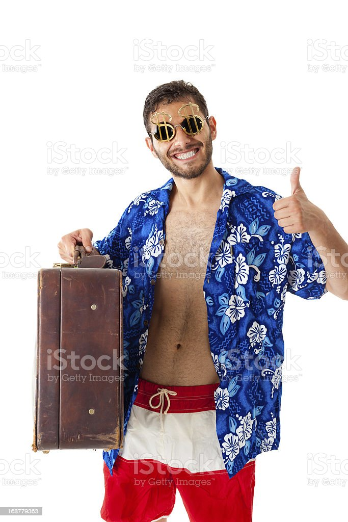 Wealthy tourist royalty-free stock photo
