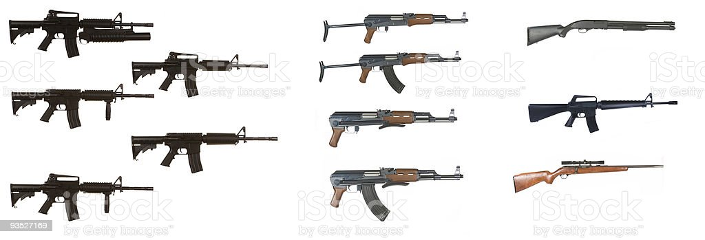 Weapon Variants royalty-free stock photo