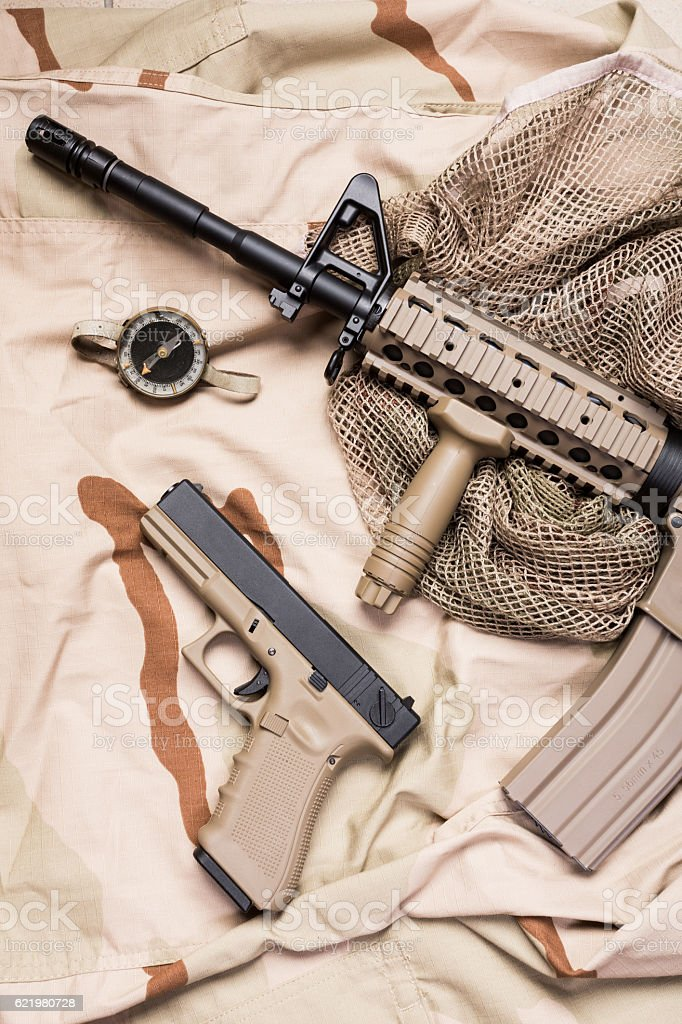 weapons and military equipment stock photo
