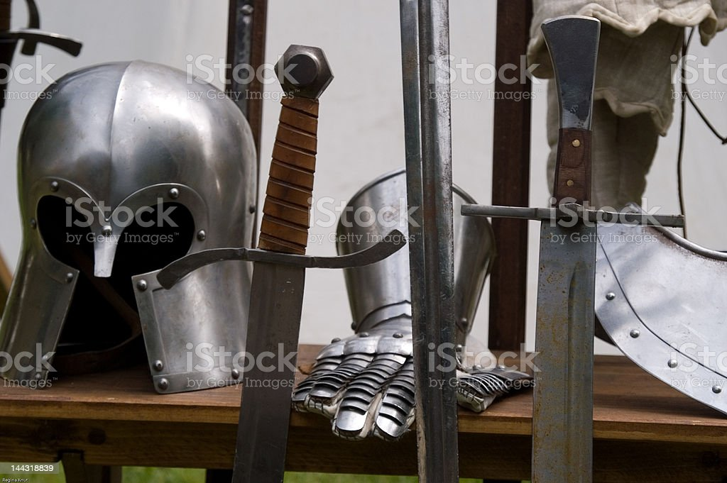 Weapons before the battle royalty-free stock photo