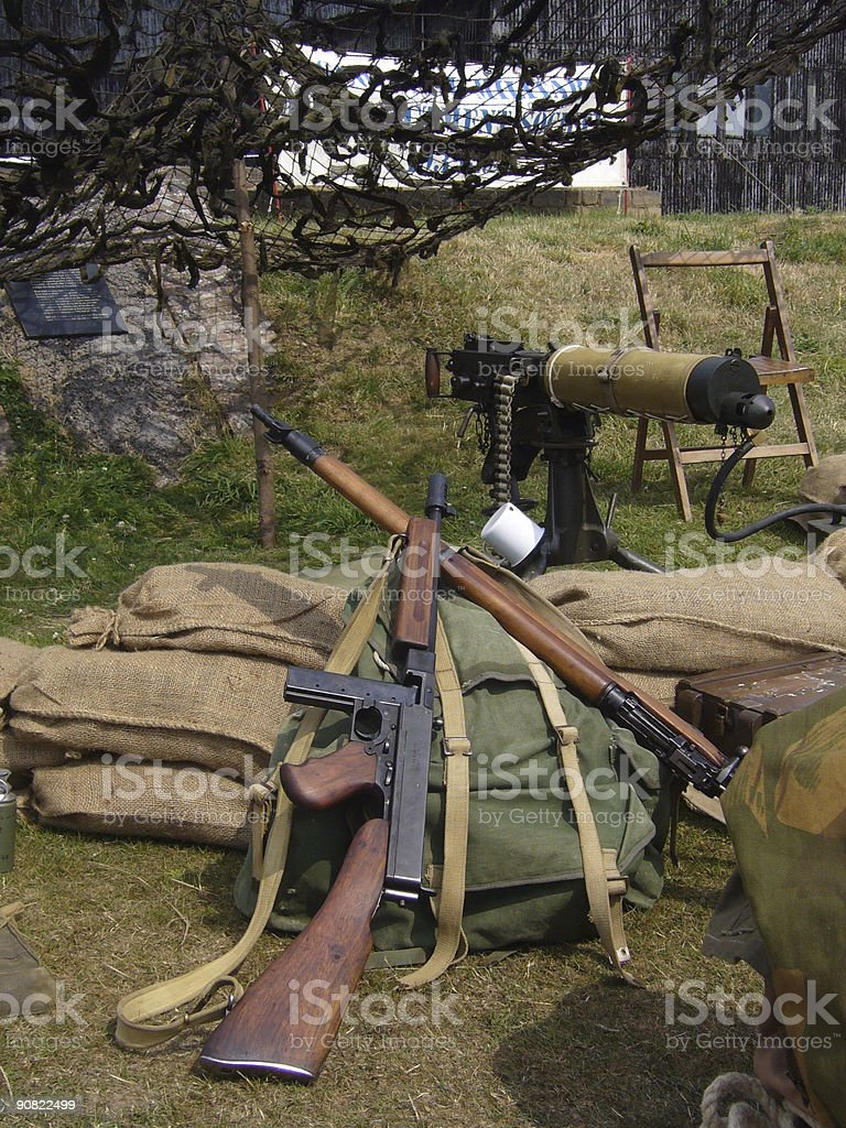 Weapons of war stock photo