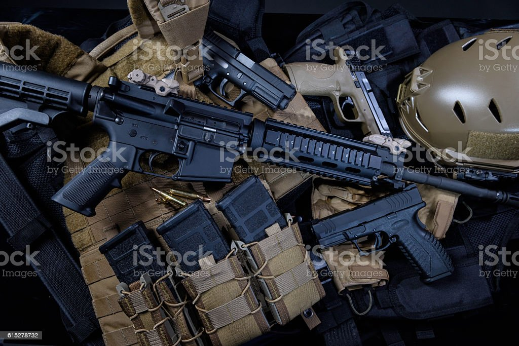 Weapons stock photo