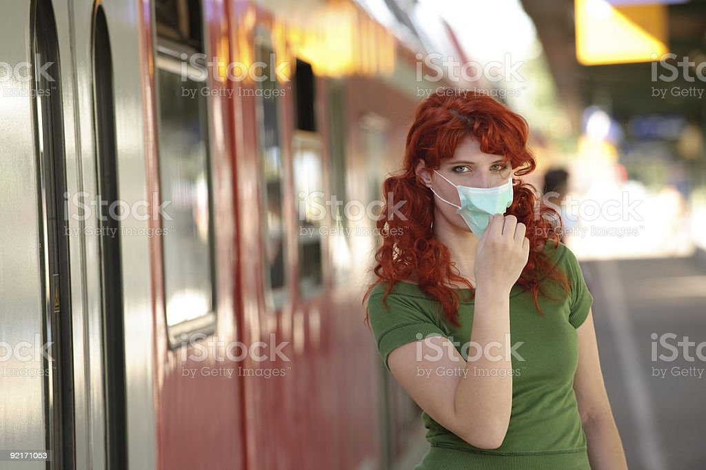 Wear a face mask! royalty-free stock photo