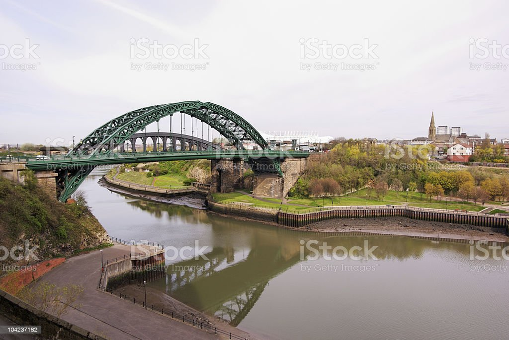 Wear Bridges in Sunderland stock photo stock photo