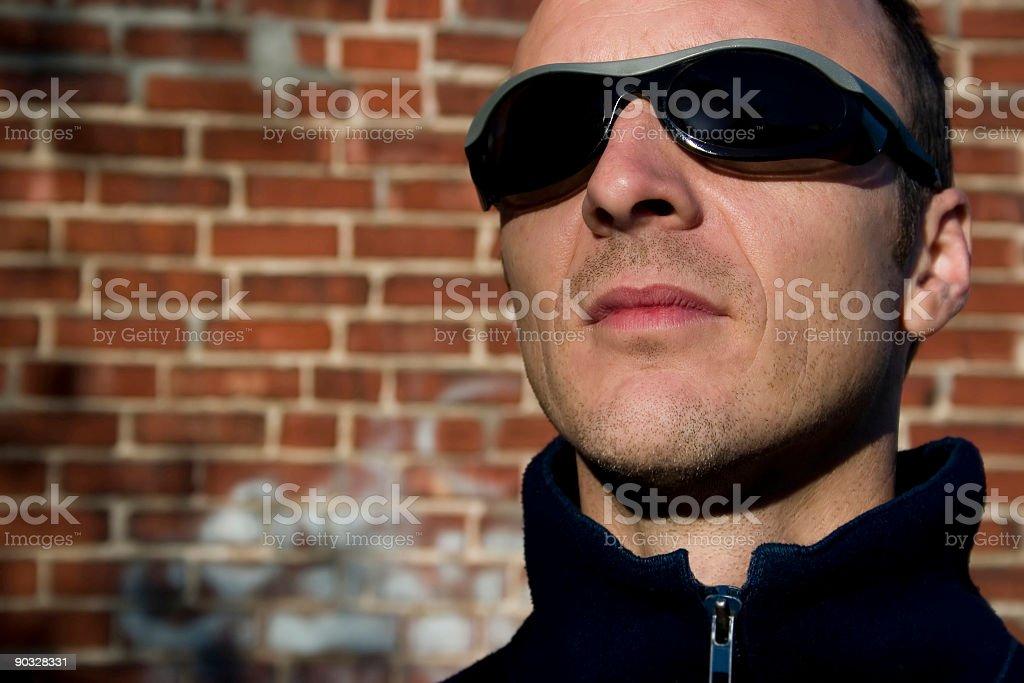 I wear my sunglasses... stock photo
