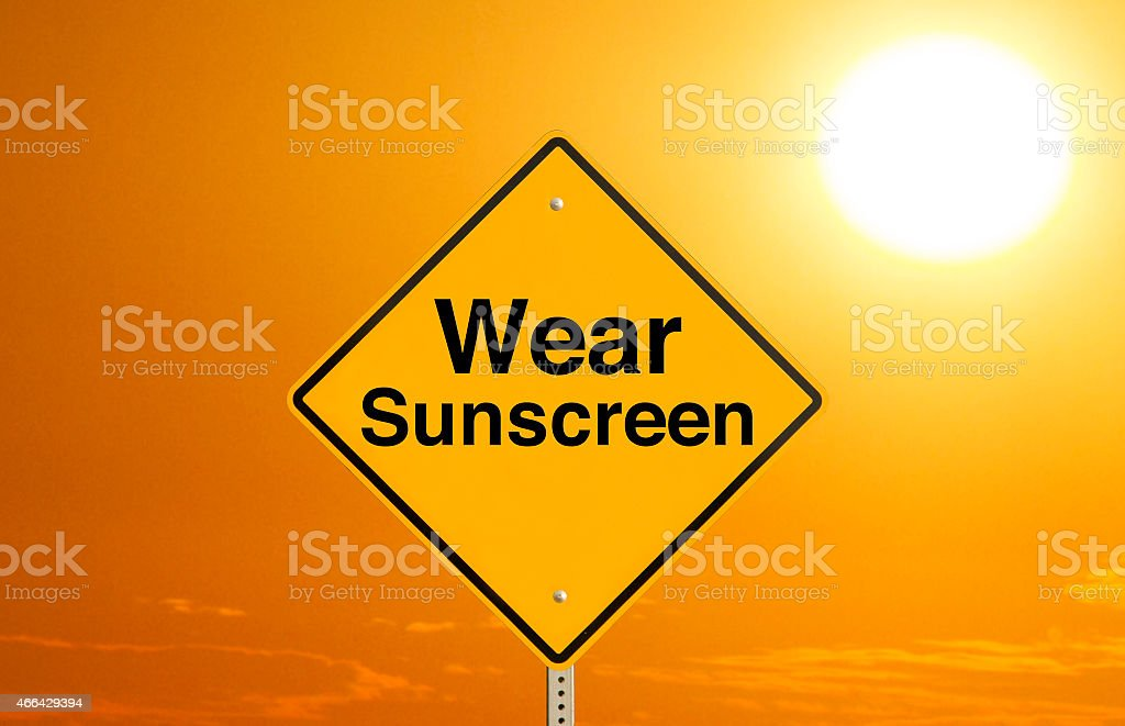 Wear Sunscreen stock photo