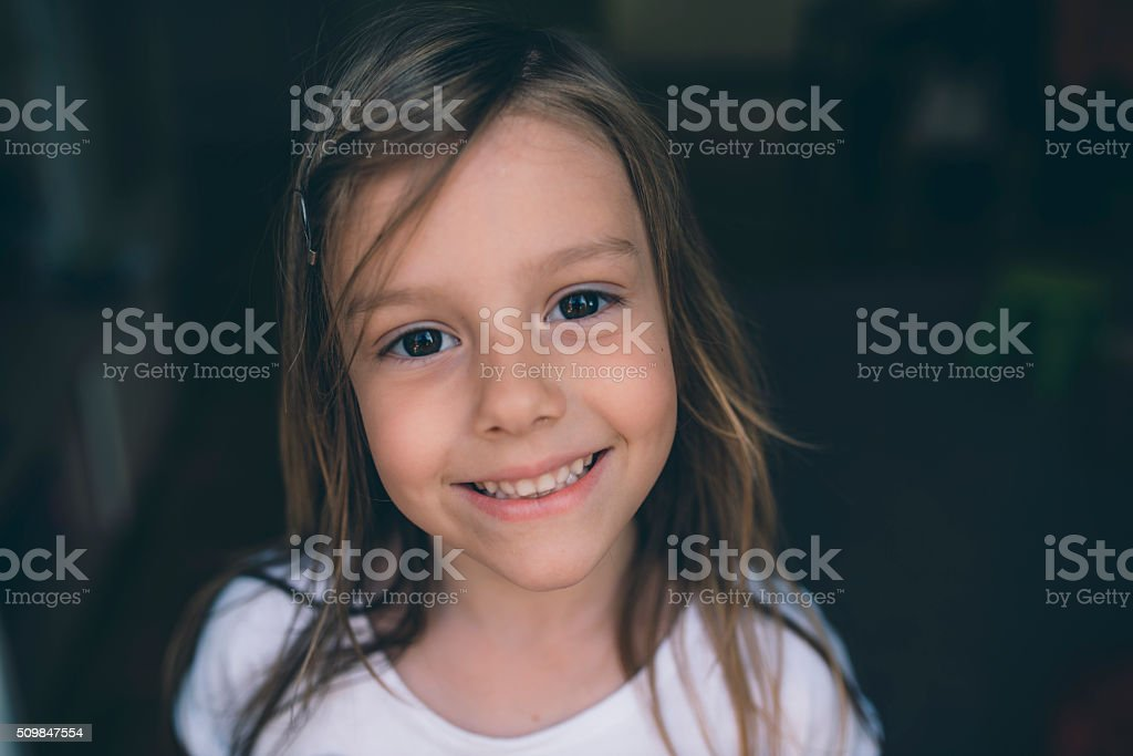 Wearing a smile stock photo