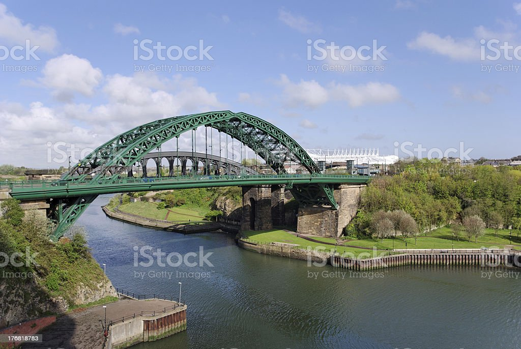 Wearmouth Bridge in Sunderland stock photo