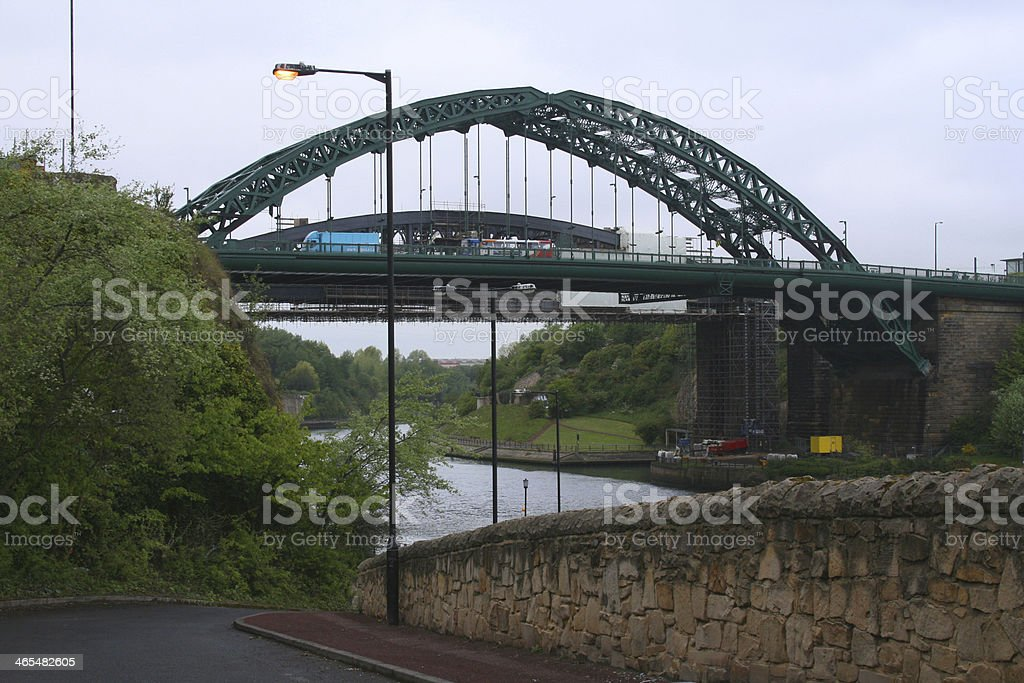 Wearmouth Bridge, Sunderland, North East England stock photo