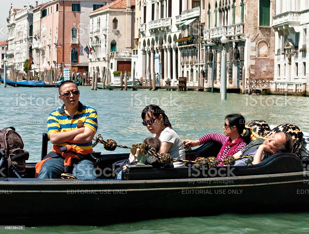 Weary tourists royalty-free stock photo