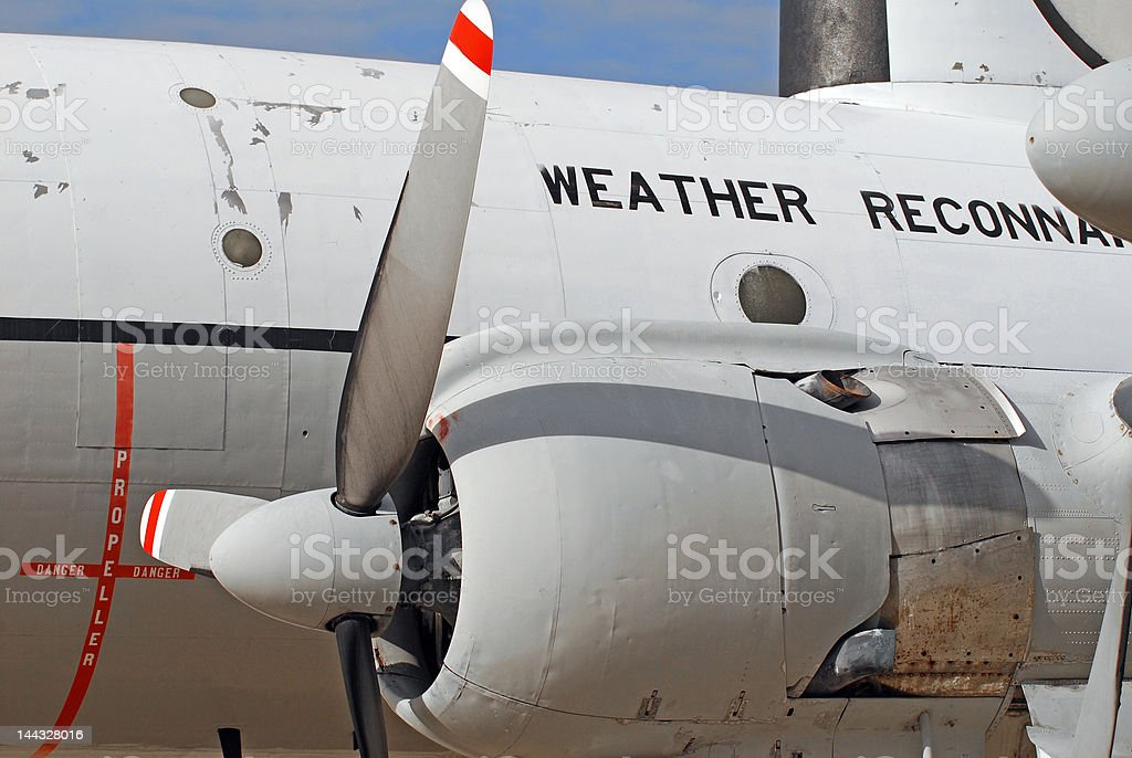Weather Aircraft royalty-free stock photo