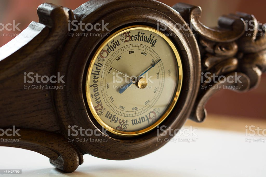 Weather barometer stock photo