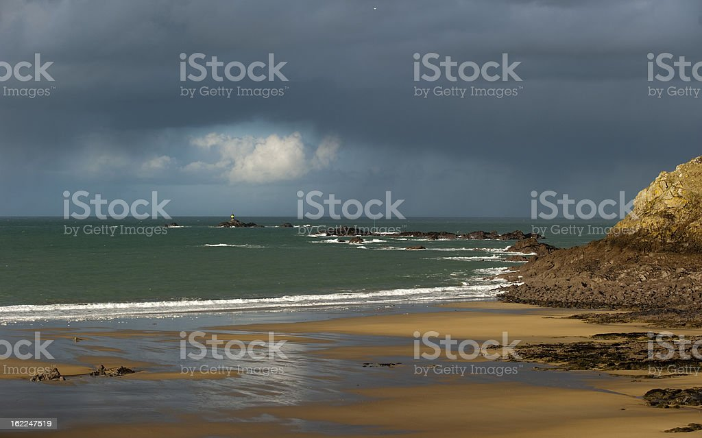 Wetter am Meer royalty-free stock photo