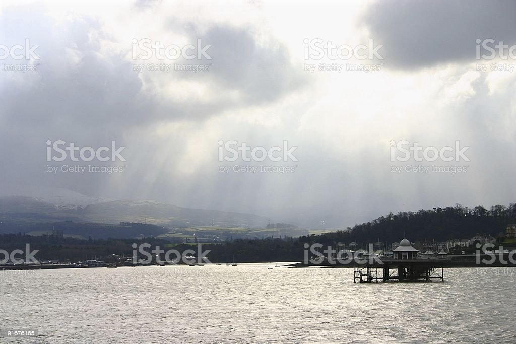 Weather Changing the Landscape Around Snowdonia royalty-free stock photo