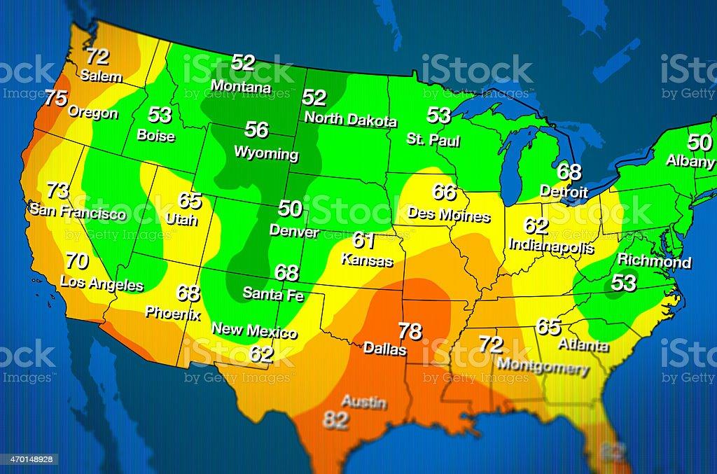 Weather Forecast Map stock photo