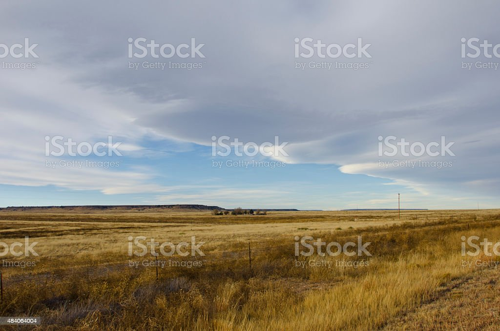Weather Front Moving Over New Mexico stock photo