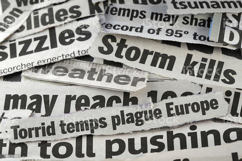 weather headlines royalty-free stock photo