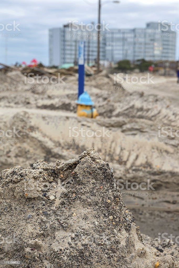 Weather: Hurricane Damage on a New Jersey Beach stock photo