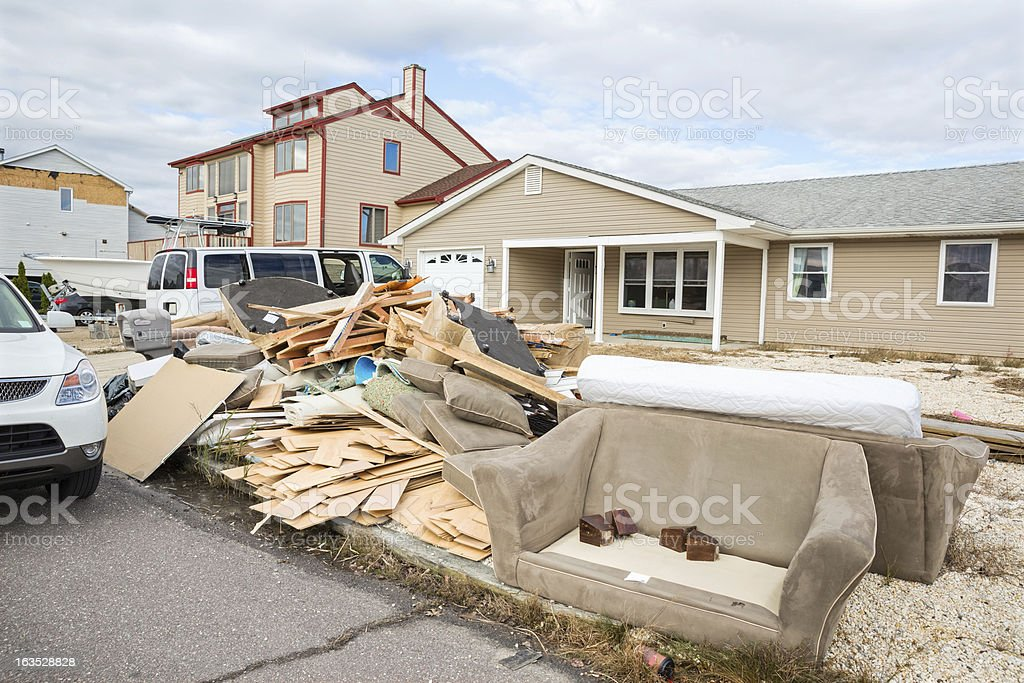 Weather: Hurricane Damage stock photo
