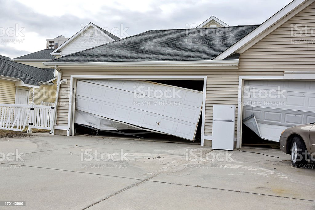 Weather: Hurricane Sandy Damage in New Jersey stock photo