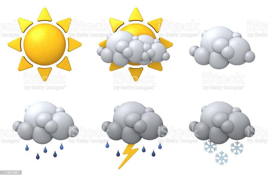 Weather Icon Set royalty-free stock photo