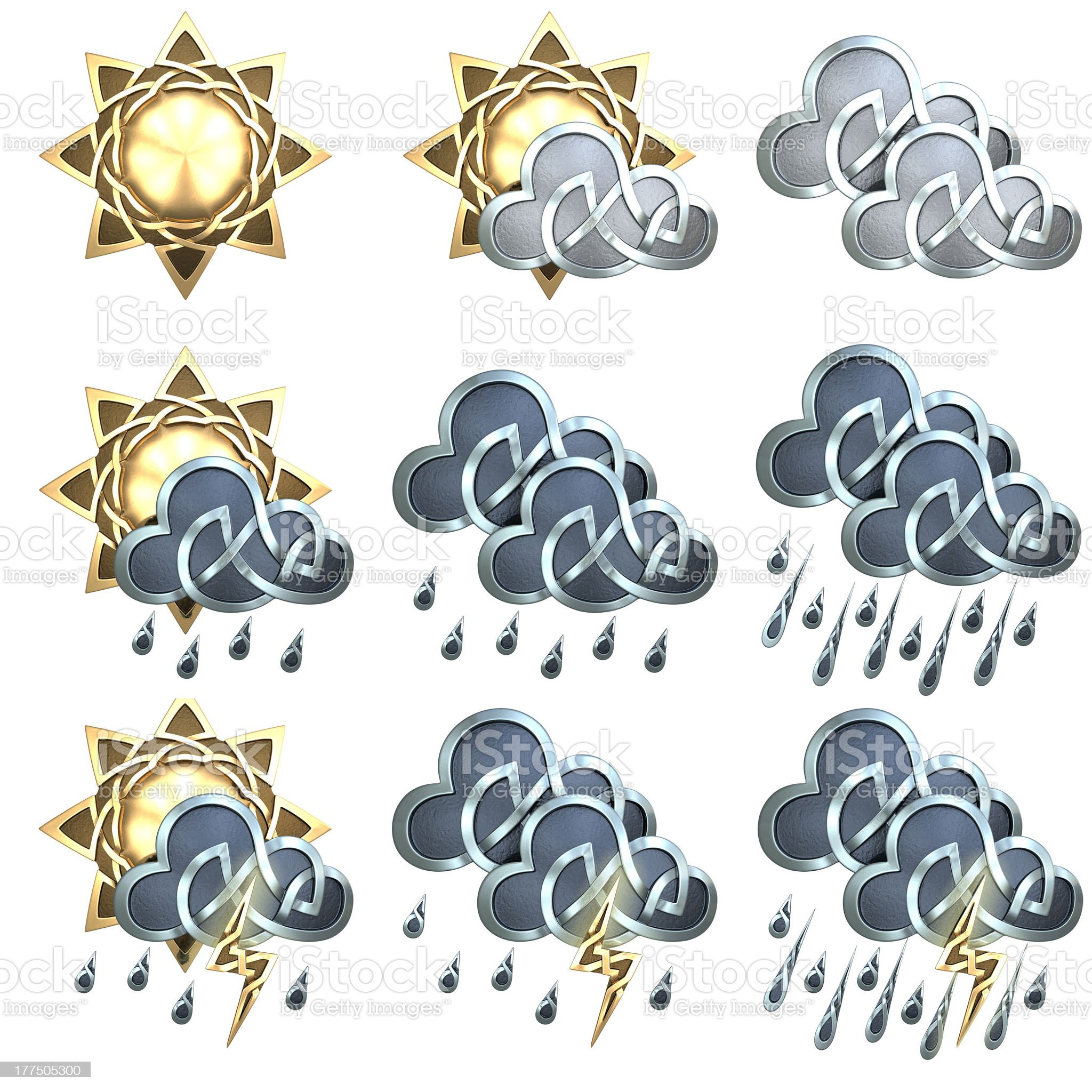 Weather Icons - 1 royalty-free stock photo