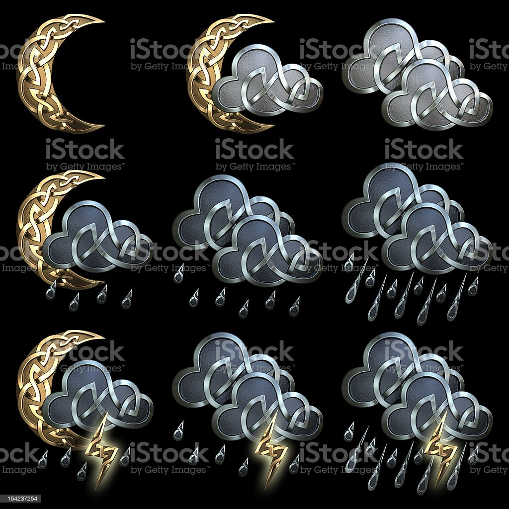 Weather icons - 3 royalty-free stock photo