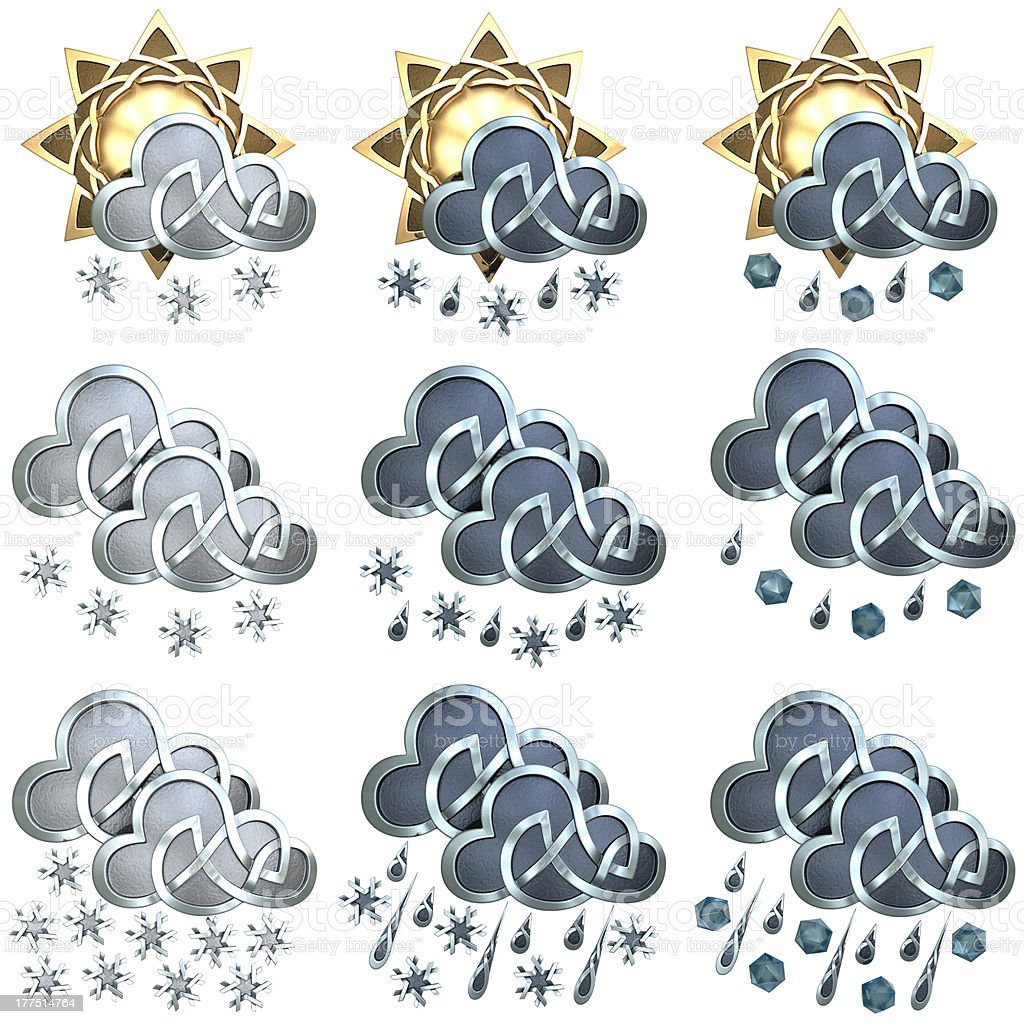 Weather Icons royalty-free stock photo
