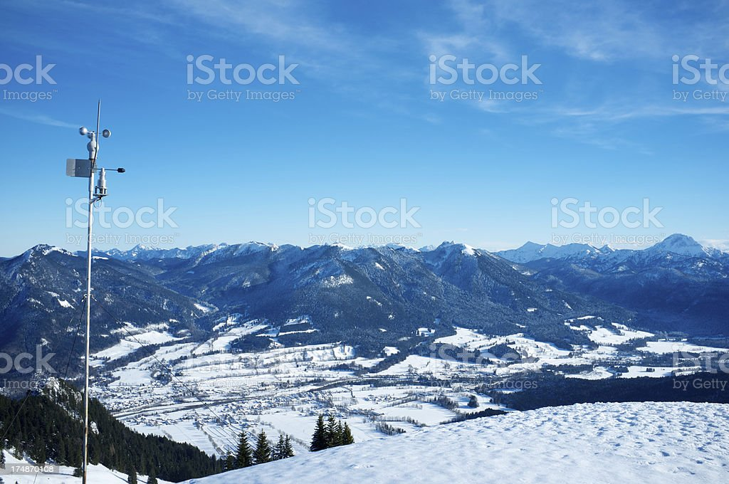 Weather Instruments in the mountains royalty-free stock photo