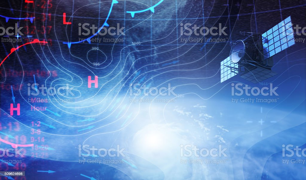Weather map in Space stock photo