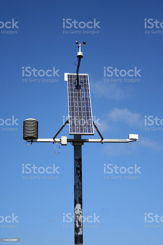 weather monitoring station royalty-free stock photo
