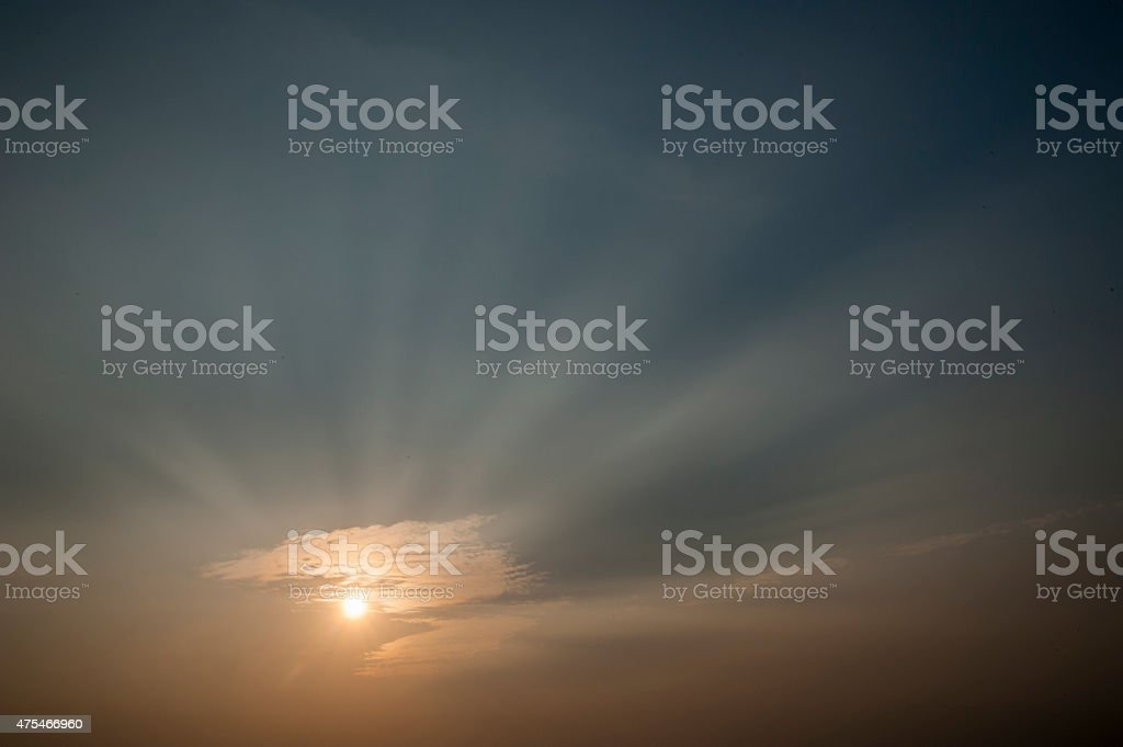 Weather paterns beautiful Sunset and sunrise stock photo