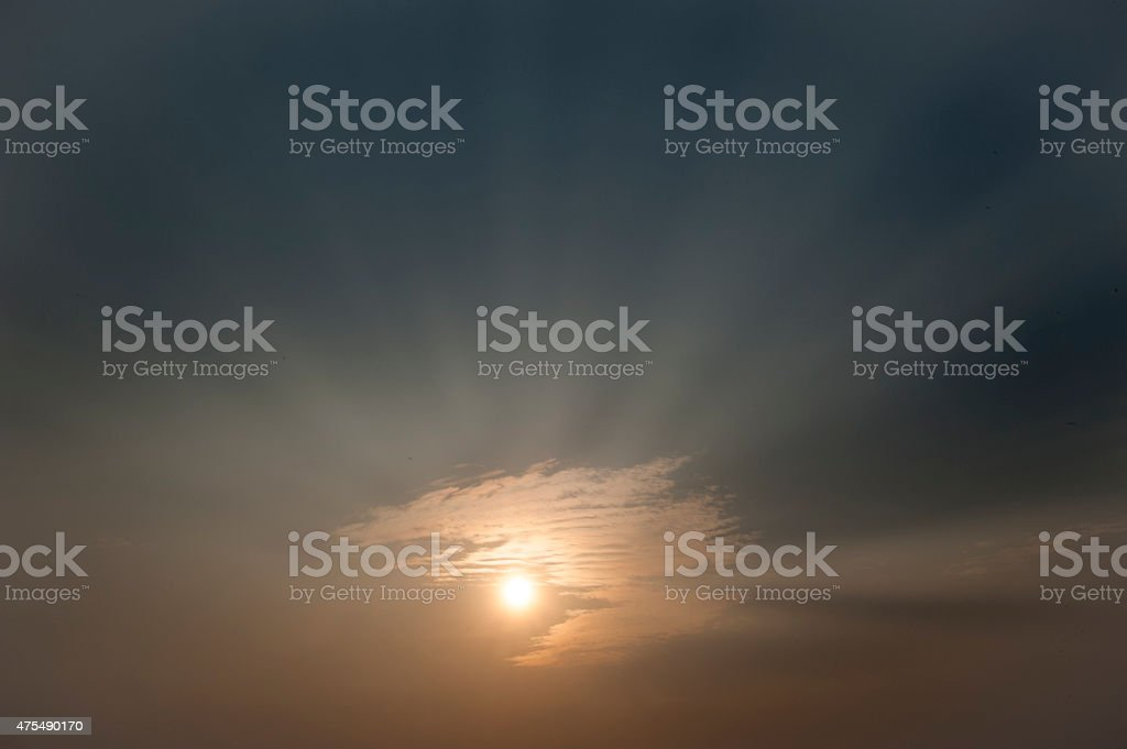 Weather patterns beautiful Sunset and sunrise stock photo