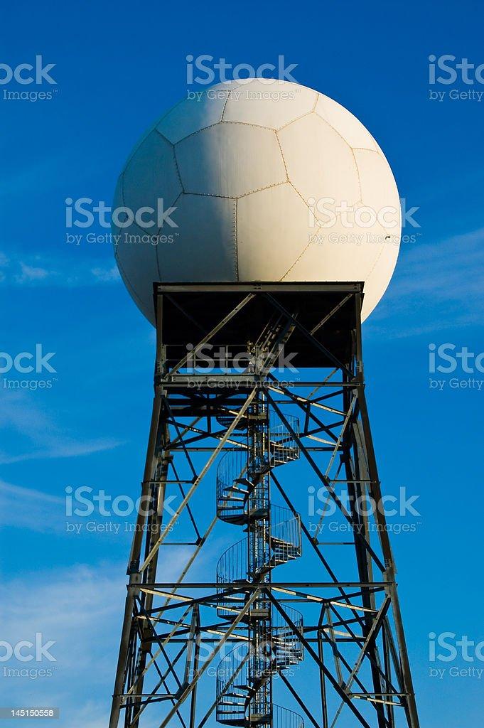 Weather radar station stock photo