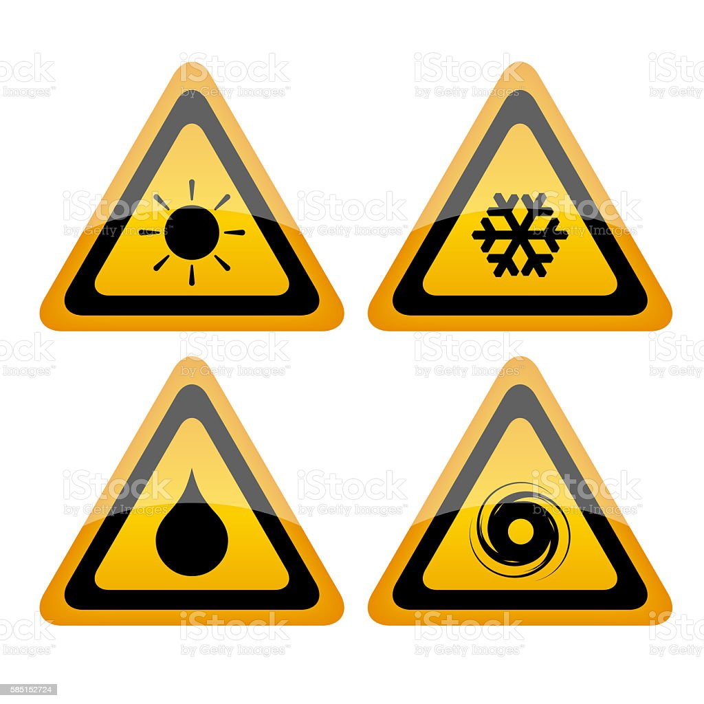 Weather signs set stock photo