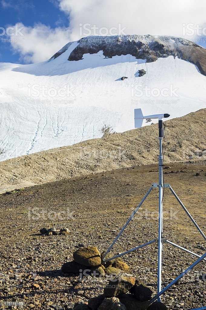 weather station in iceland stock photo