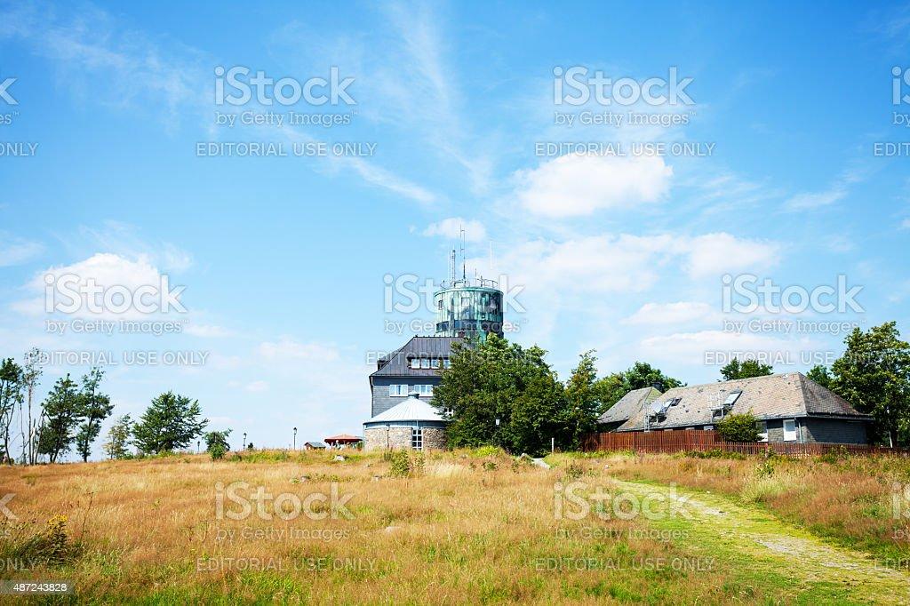 Weather station Kahler Asten in Sauerland stock photo