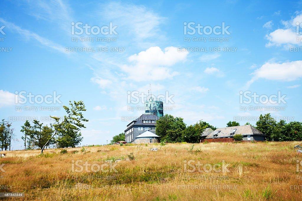 Weather station Kahler Asten stock photo
