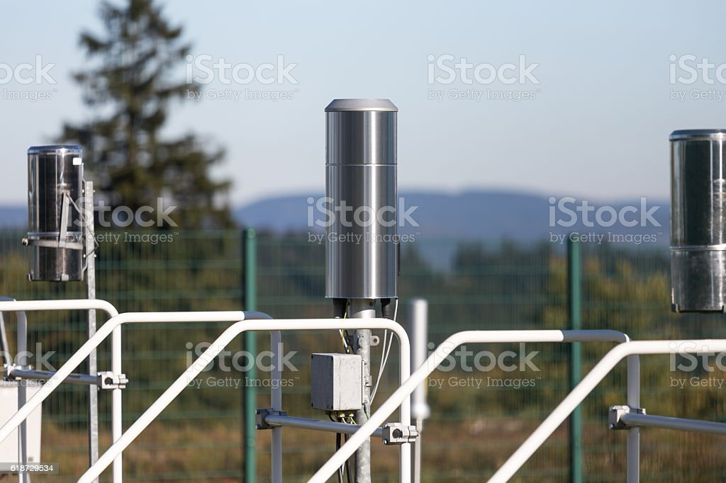 weather station probes stock photo