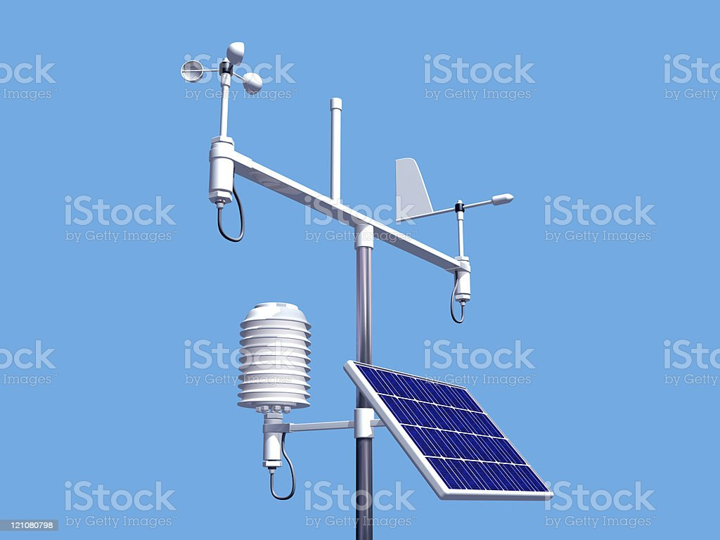 A weather station receiving transmission royalty-free stock photo