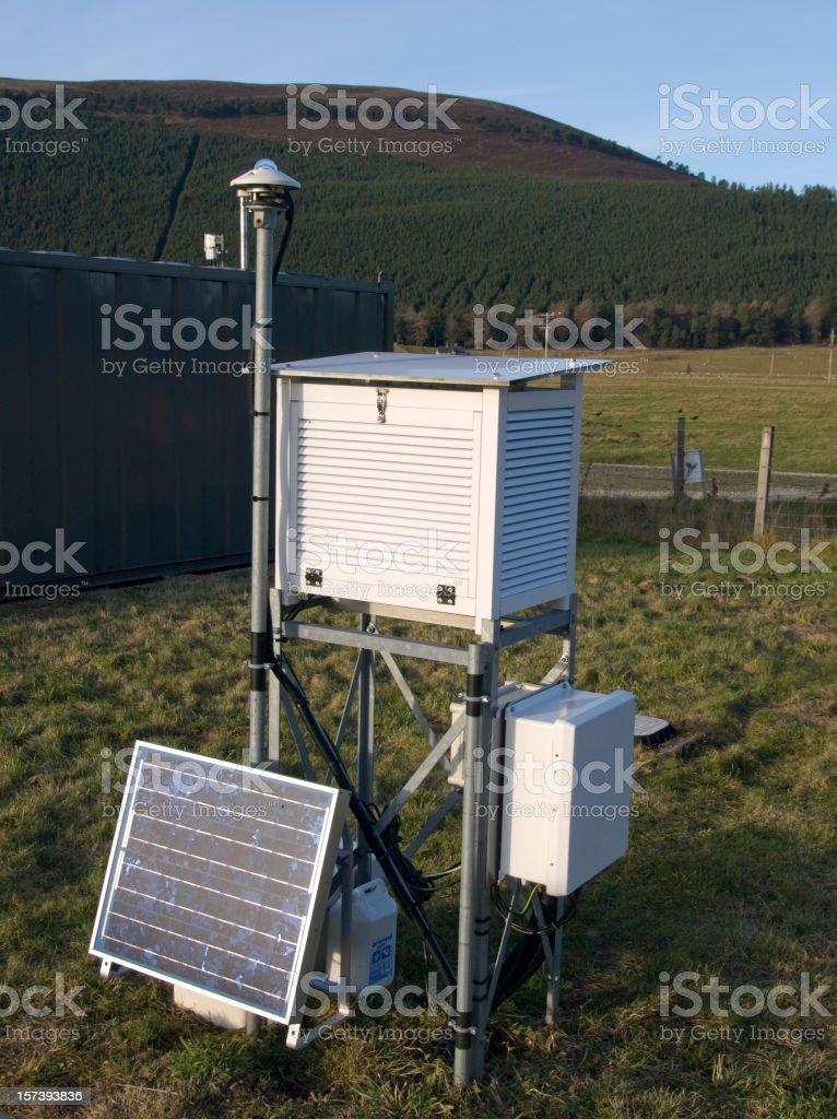 Weather Station, Scotland royalty-free stock photo