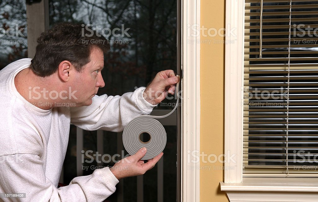 Weather Stripping stock photo